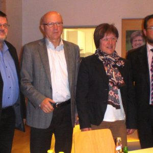 Dieter Bien, Edgar Kreuzer, Uta Böckel und  Dr. André Kavai