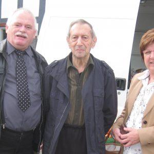 Auf dem Foto sehen Sie Helmut Müller, Fritz Wagner und Uta Böckel.