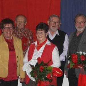 Auf dem Foto sehen Sie von links Werner Hellmuth, Uta Böckel, Heinrich Kümmer, Waltraud Stühn, Norbert Schäfer, Gerhard Hofmann und Christian Benzing.